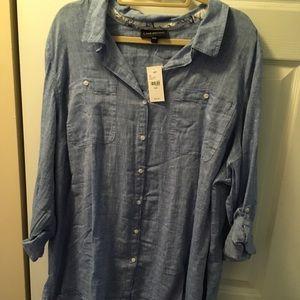 Linen button down tunic
